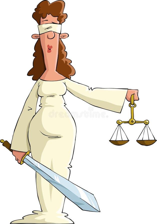 rättvisa royaltyfri illustrationer