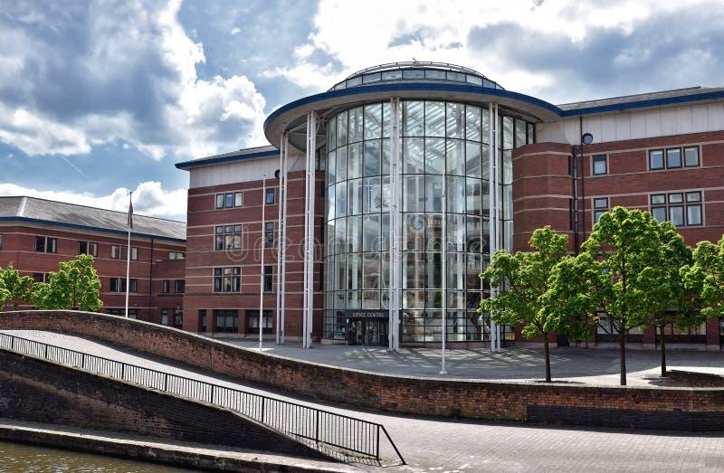 Rättvisa Centre, Nottingham fotografering för bildbyråer