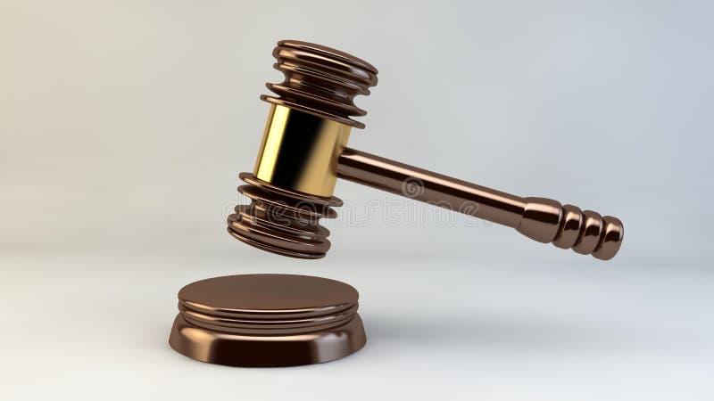 Rättvisa Law Lawyer för domstolhammaredomare stock illustrationer