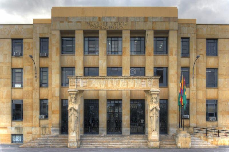 Rättvisa Palace Bucaramanga, Colombia arkivfoton