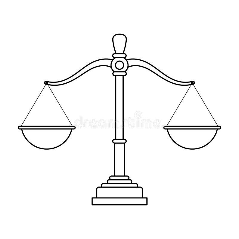 Rättvisajämviktstecknad film vektor illustrationer