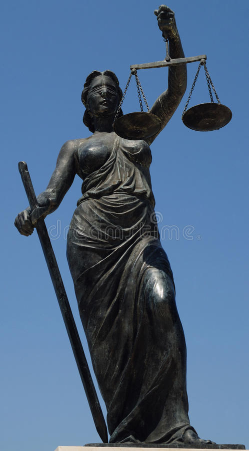 rättvisalady royaltyfri bild