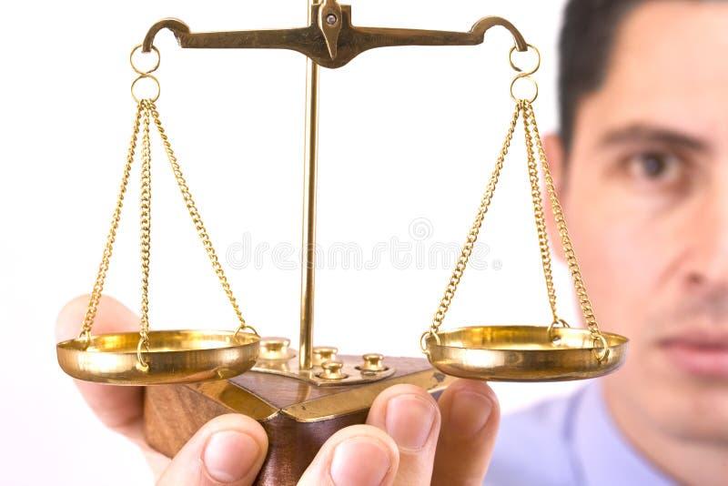 rättvisascale royaltyfria bilder
