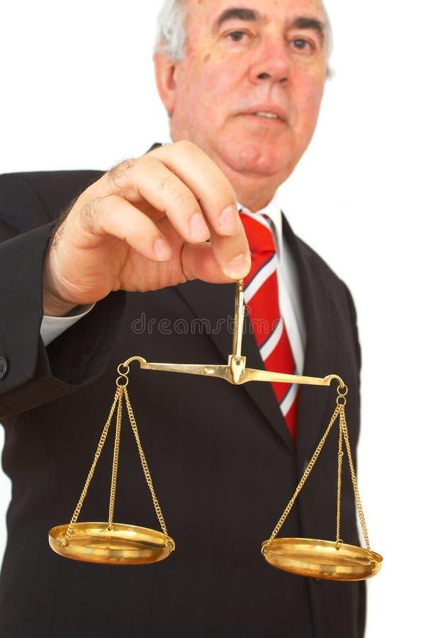 rättvisascales royaltyfri foto
