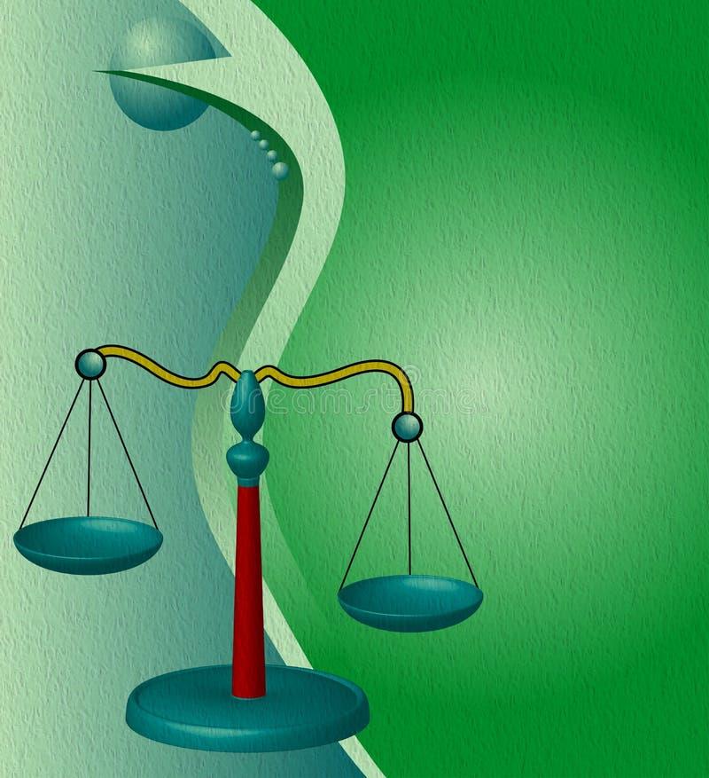 rättvisascales stock illustrationer