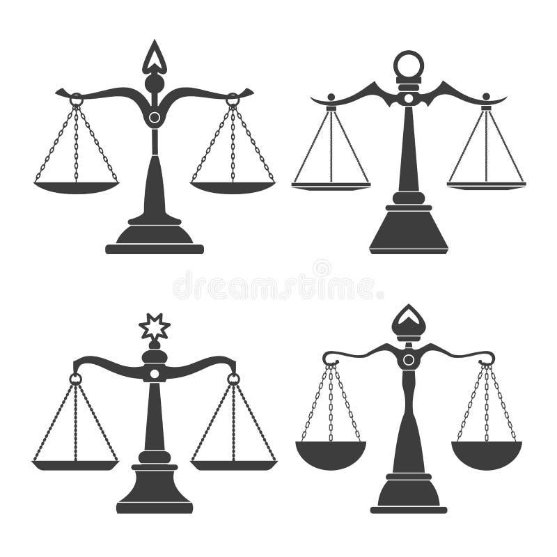 Rättvisavåguppsättning stock illustrationer