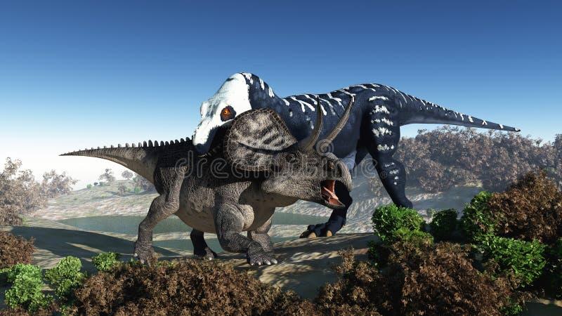 Räuberischer Dinosaurier vektor abbildung