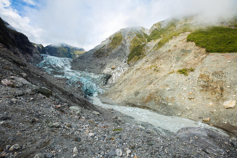 Rävglaciär i nyazeeländskt fotografering för bildbyråer