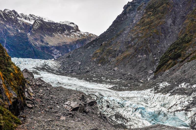 Rävglaciär i nyazeeländskt royaltyfria bilder