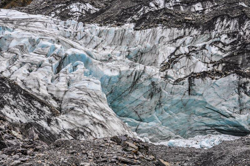 Rävglaciär i nyazeeländskt arkivfoto