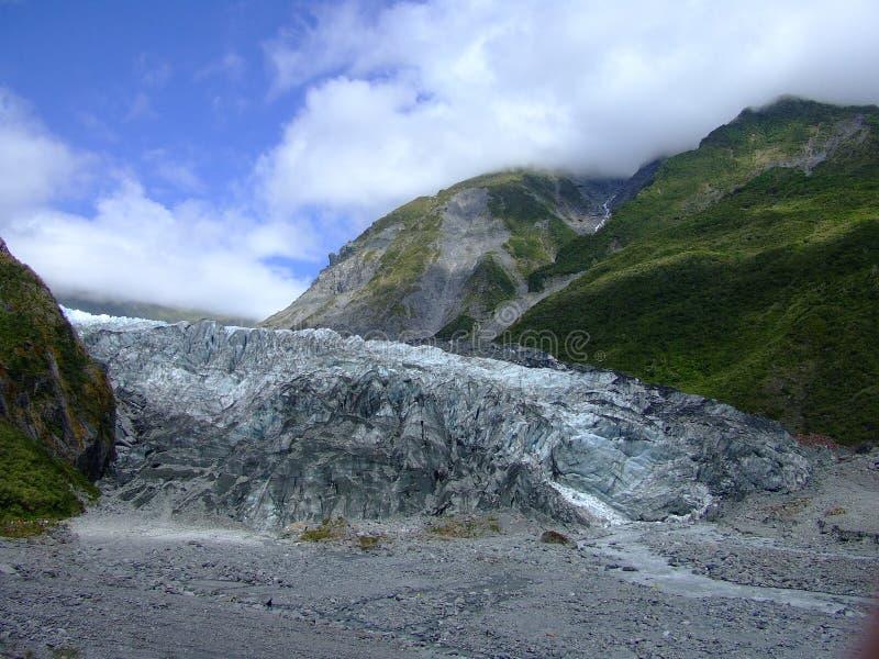 Rävglaciär Nya Zeeland arkivbilder