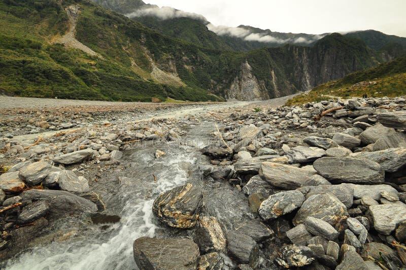 Rävglaciär, nyazeeländskt landskap arkivfoton