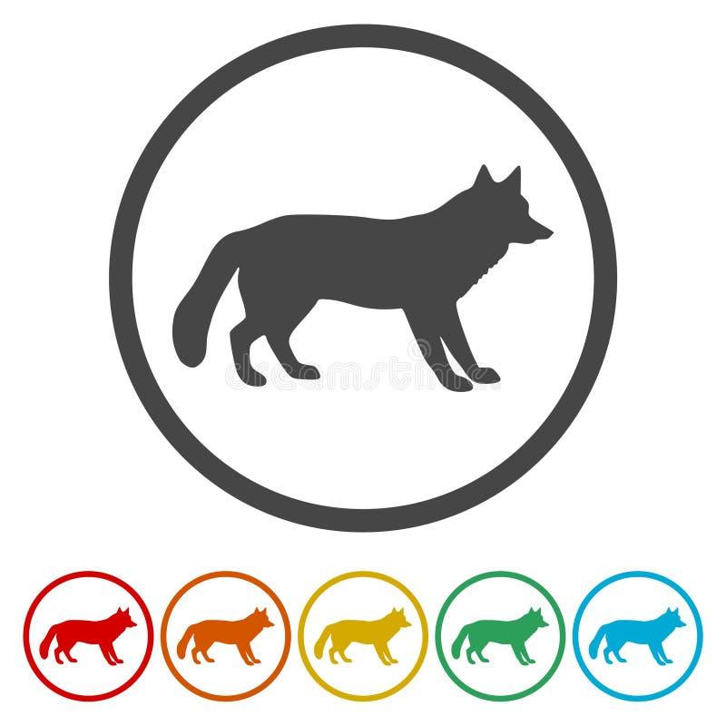 Rävsymbol stock illustrationer