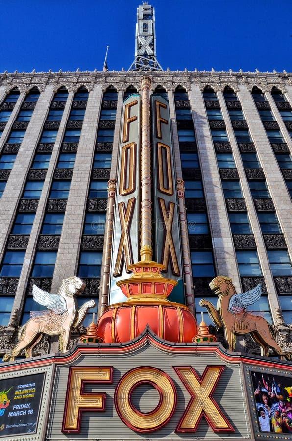 Rävteater i Detroit royaltyfri fotografi