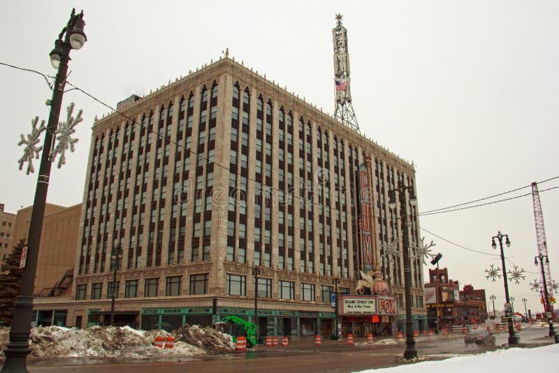 Rävteater i i stadens centrum Detroit Michigan arkivfoton