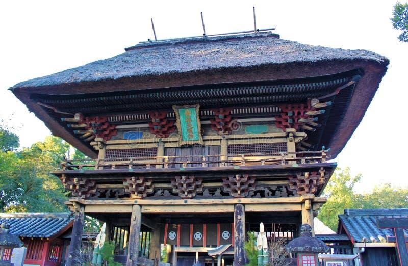 Rōmon gate of Aoi Aso Shrine in Japan. The two-storied Rōmon gate of Aoi Aso Shrine is listed as National Treasures of Japan - Hitoyoshi, Kumamoto, Japan royalty free stock image