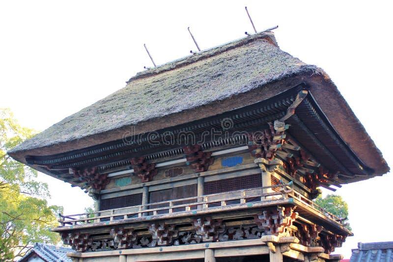 Rōmon gate of Aoi Aso Shrine in Japan. The two-storied Rōmon gate of Aoi Aso Shrine is listed as National Treasures of Japan - Hitoyoshi, Kumamoto, Japan stock images