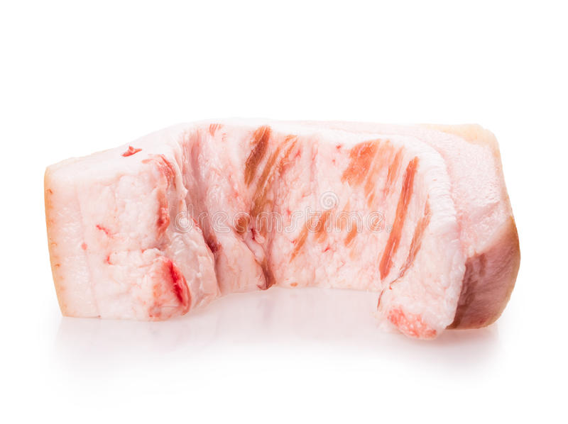 rå bacon arkivbilder