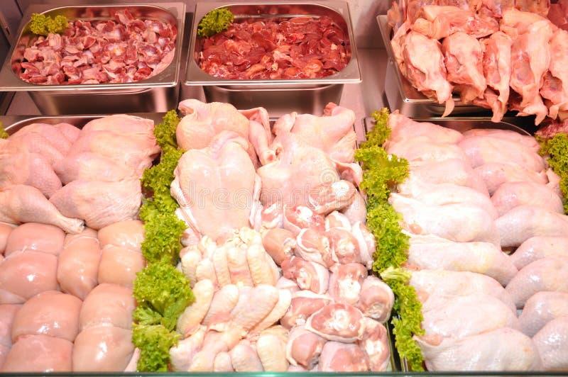 rå blandade meats royaltyfri foto