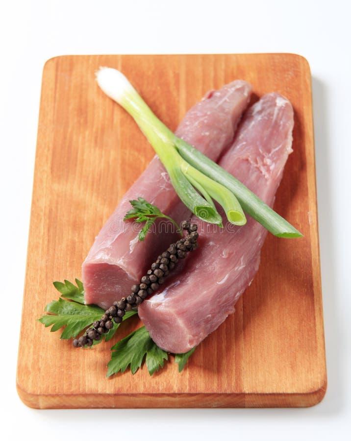 rå fläskkarré för pork royaltyfria foton