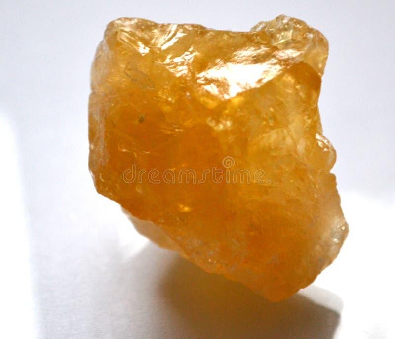 Rå grov naturlig sten Crystal Gemstone för Citrine arkivbilder