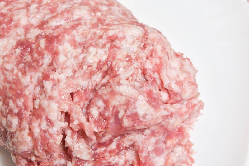Rå köttfärs för nötkött och för griskött royaltyfri fotografi