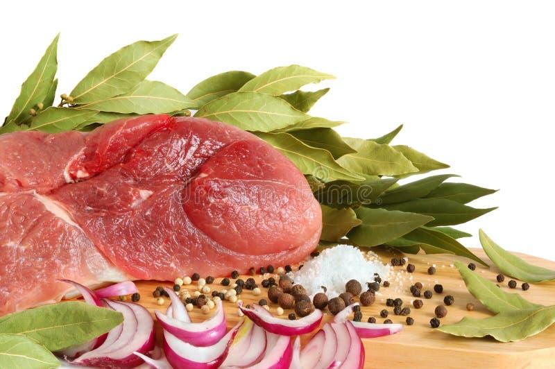rå meatpork royaltyfri bild