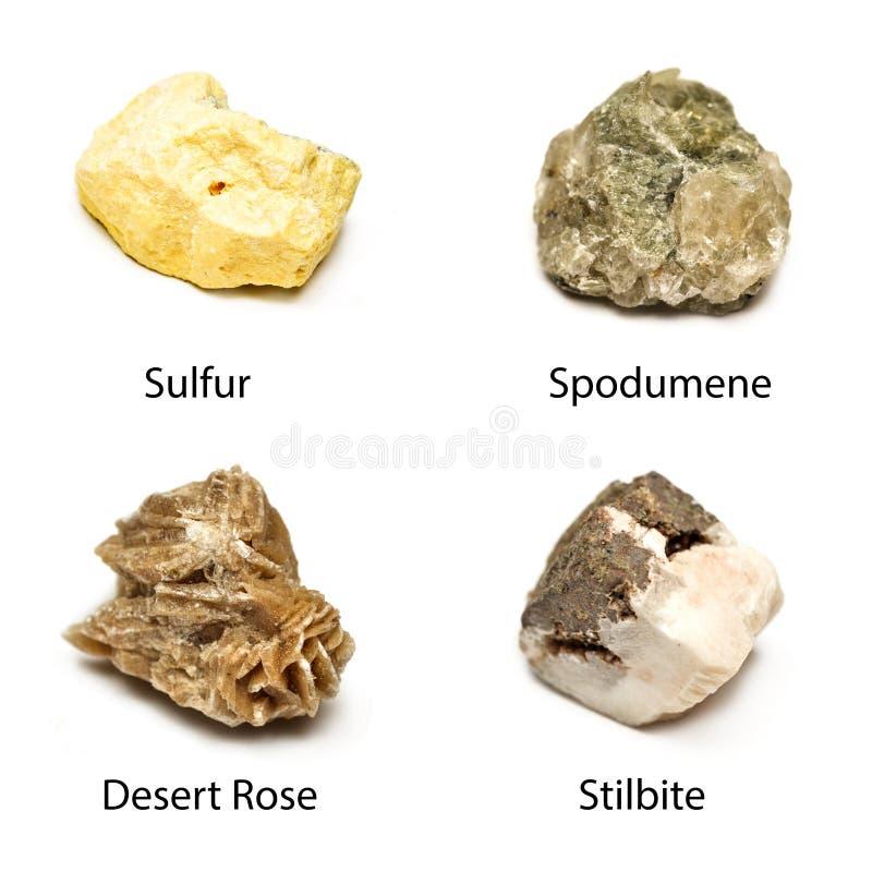 Rå mineraler royaltyfria foton