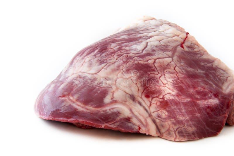Rå nötkötthjärta - meat arkivfoton