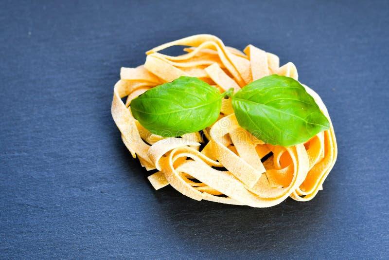 rå pasta royaltyfri bild