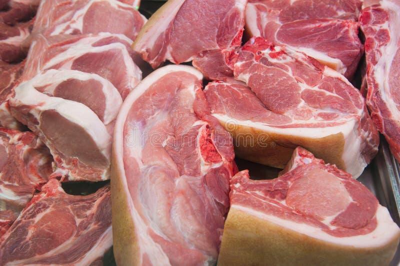 rå skivor för meat royaltyfri foto