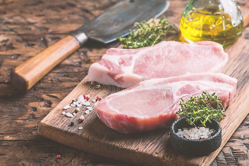 rå steak för pork royaltyfri fotografi
