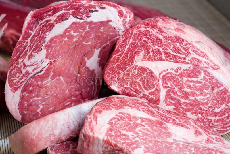 rå steaks för nötkött royaltyfri fotografi