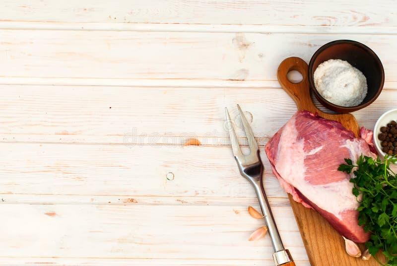 Rå Striploin för nytt kött biff fotografering för bildbyråer