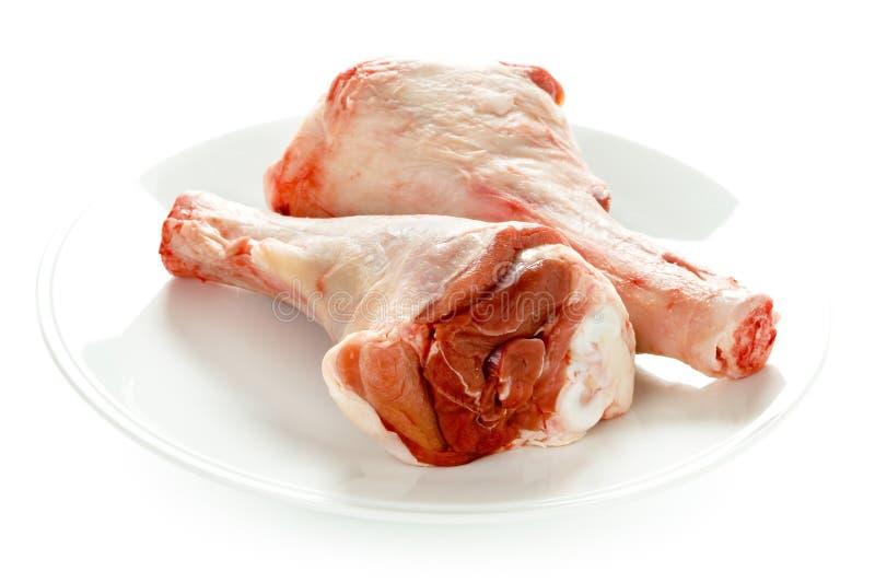 Rå uncooked shanks för lamb två arkivfoton