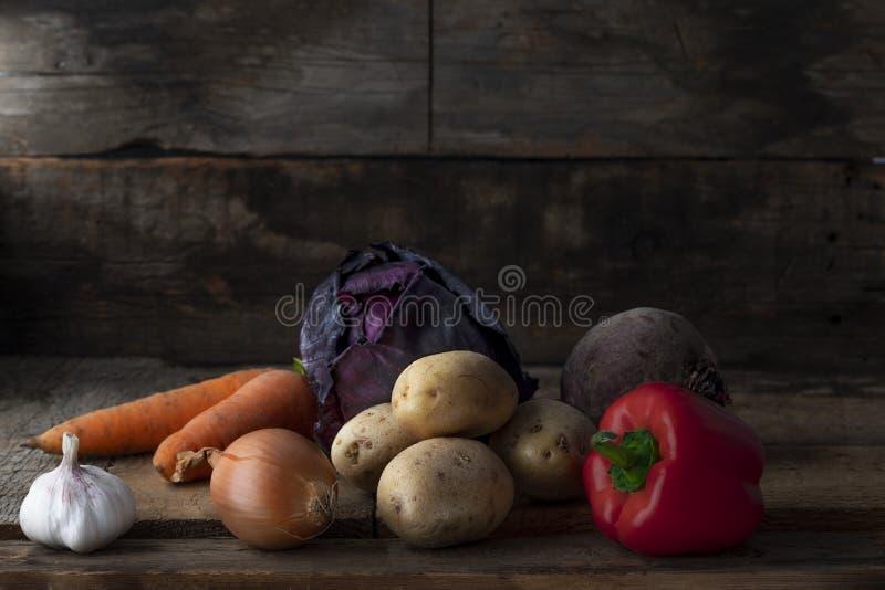 Rå vegetarisk mat åkerbruka produktgrönsaker för ny marknad royaltyfria foton