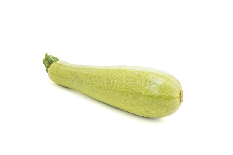 Rå zucchini som isoleras på vit fotografering för bildbyråer