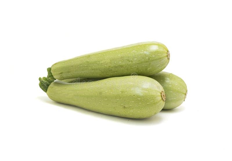 Rå zucchini som isoleras på vit royaltyfri foto