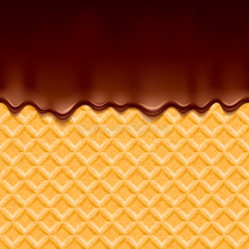 Rån och smältt choklad - vektorbakgrund stock illustrationer