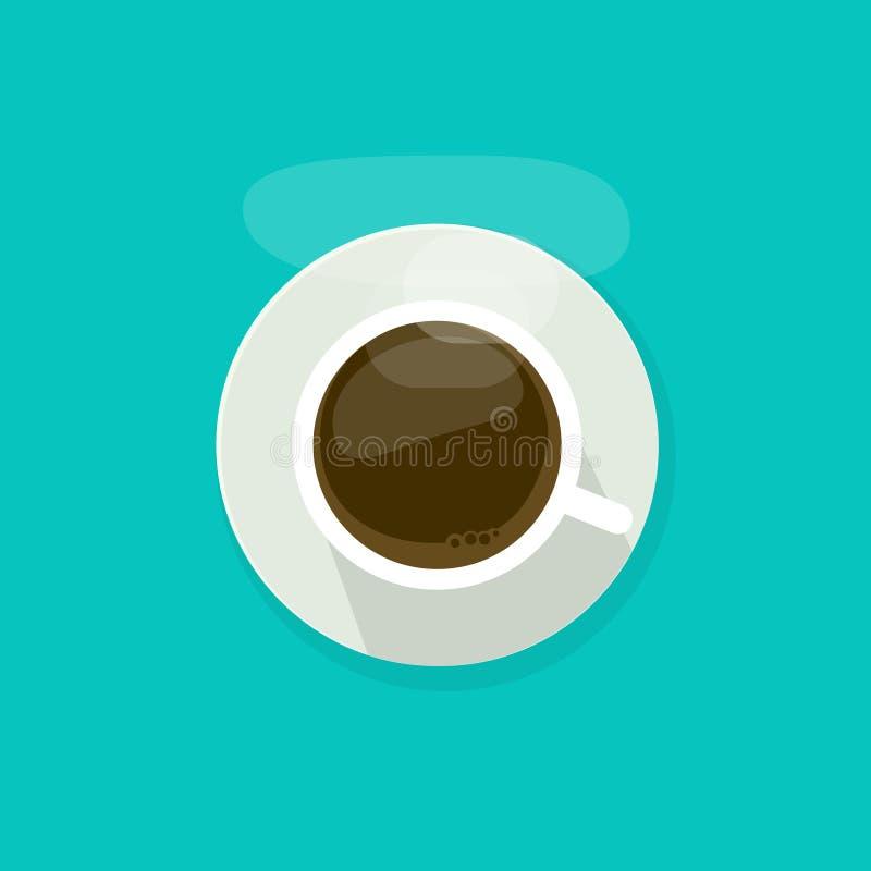 Rånar den bästa sikten för kaffekoppen som isoleras på blå bakgrund, illustrationen för vektorn för kaffekoppen, symbolen för exp stock illustrationer