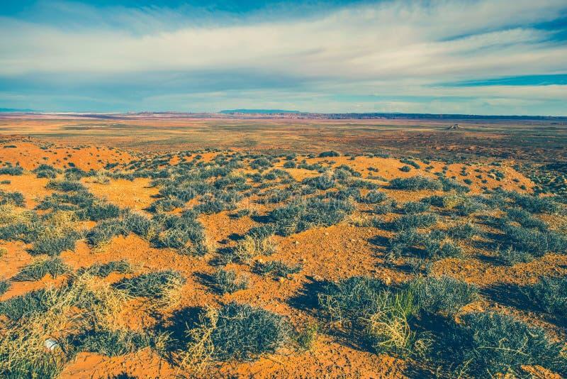 Rått Arizona ökenlandskap arkivfoton