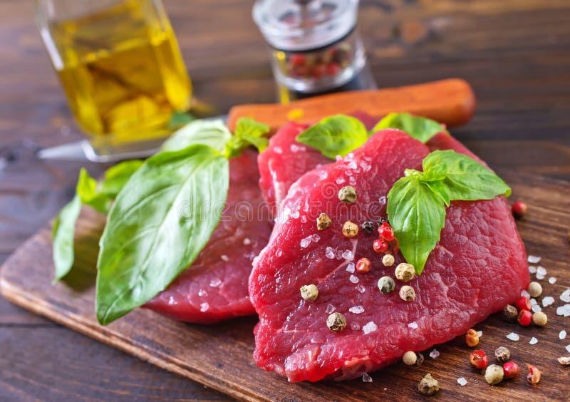 Rått kött arkivbild
