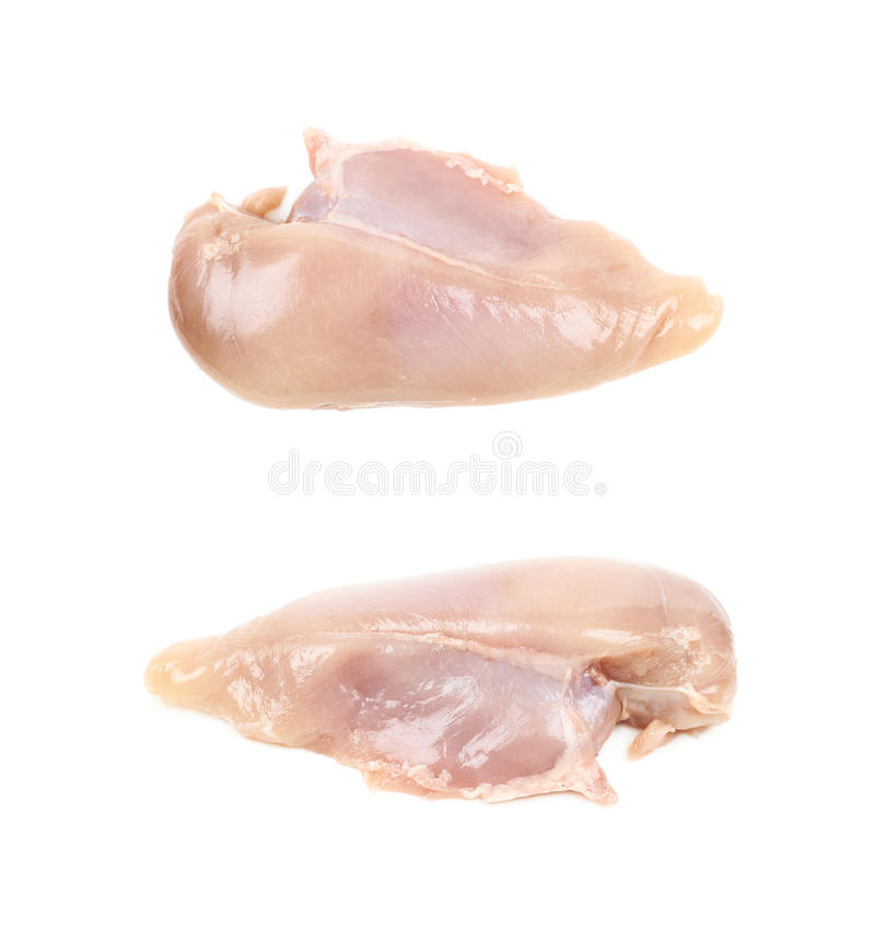 Rått stycke för fegt bröst av kött fotografering för bildbyråer