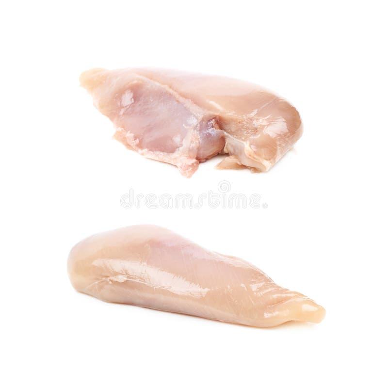Rått stycke för fegt bröst av kött arkivfoto