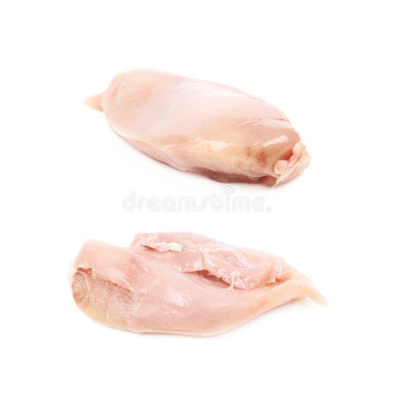 Rått stycke för fegt bröst av kött royaltyfri foto
