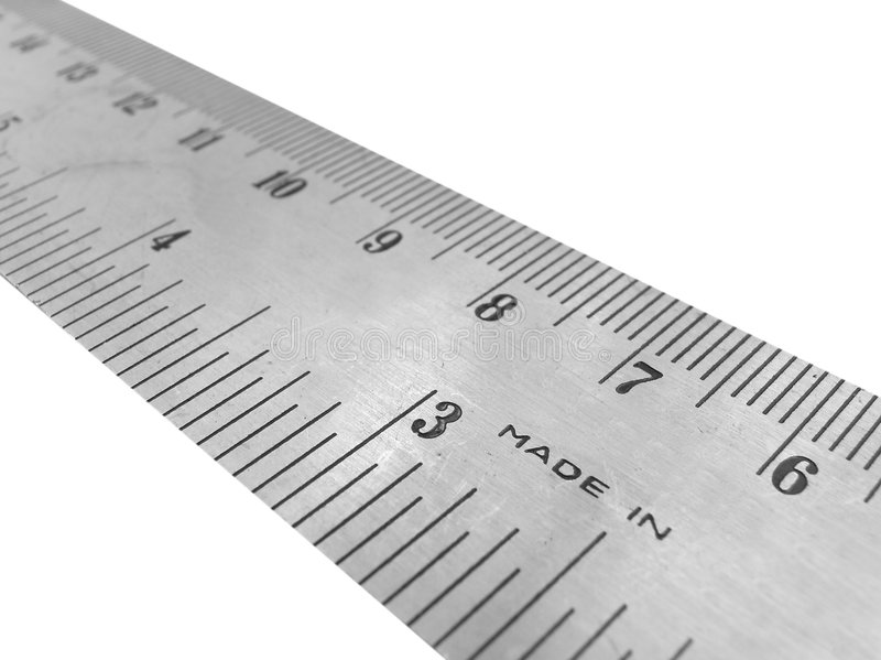 Règle en métal images libres de droits
