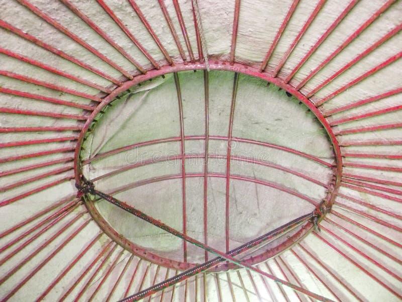 Règlement antique de Burana dôme de nomades de Yurt-maison image libre de droits