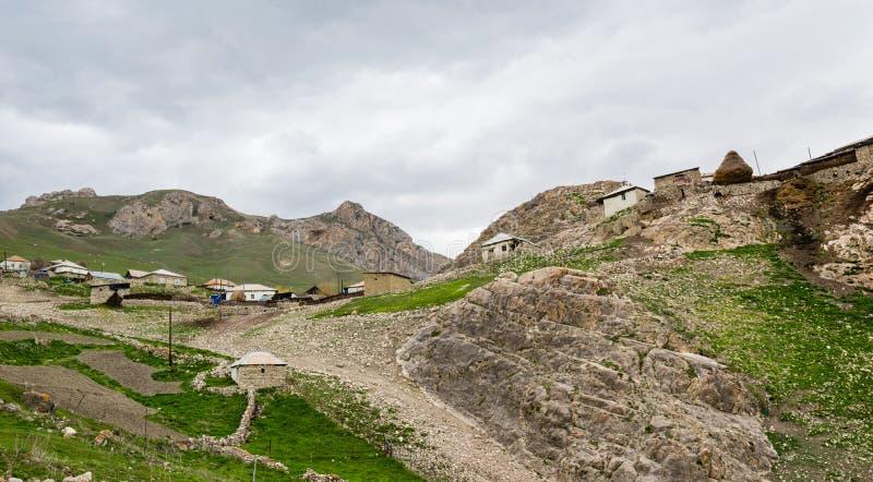 Règlement de montagne, Azerbaïdjan, région de Quba photographie stock