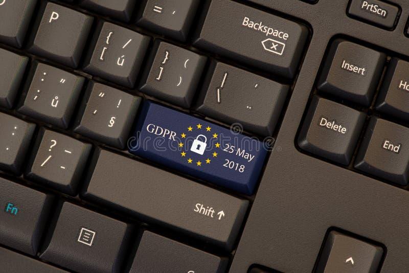 Règlement général GDPR de protection des données photos stock