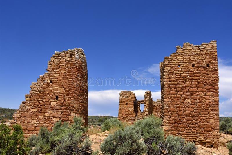 Règlement héréditaire de Puebloan photos stock